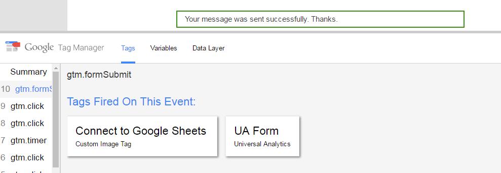 Pass dynamic data to Google Sheets using Google Tag Manager