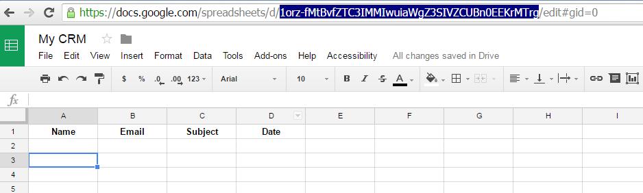 Google-sheets-ID