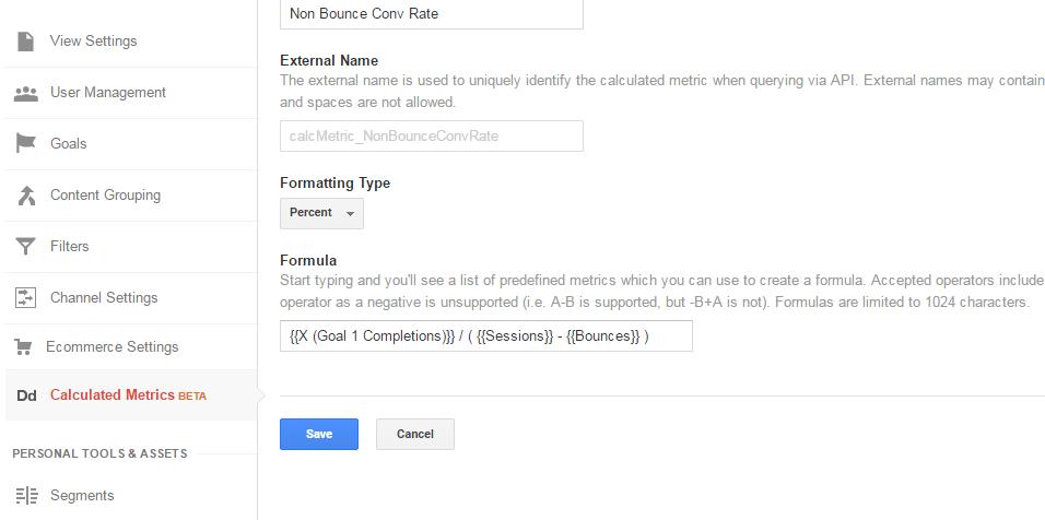 calculated metrics formula